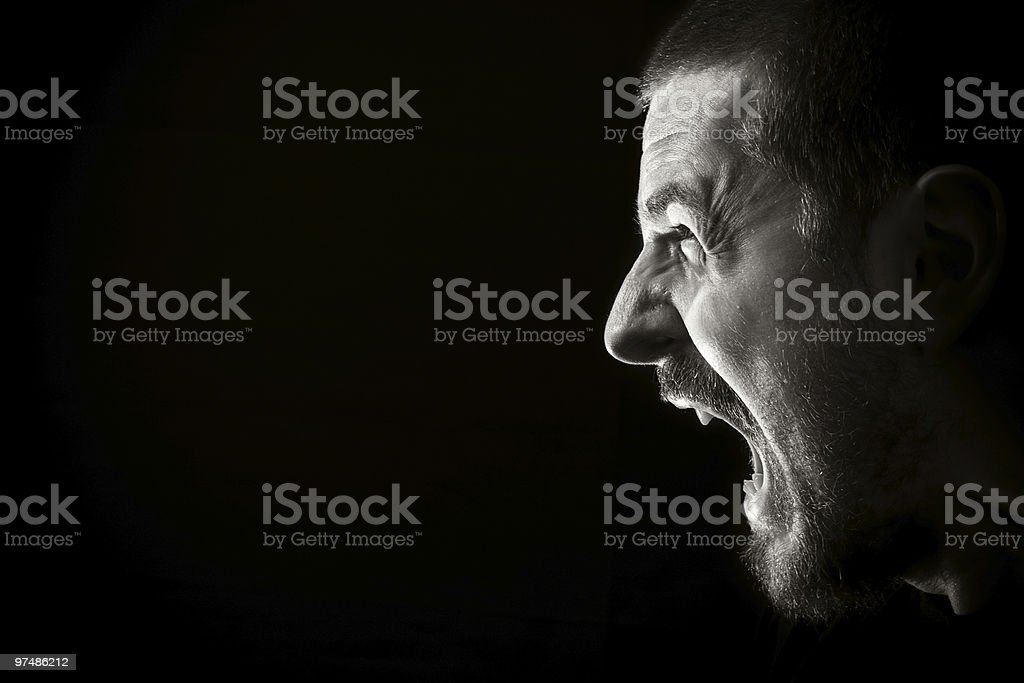 Scream of anger royalty-free stock photo