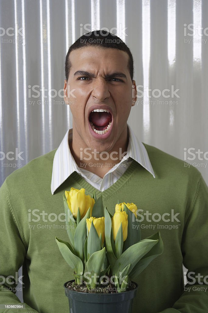 Scream royalty-free stock photo