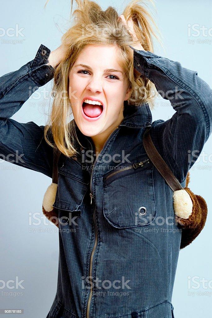 Scream stock photo