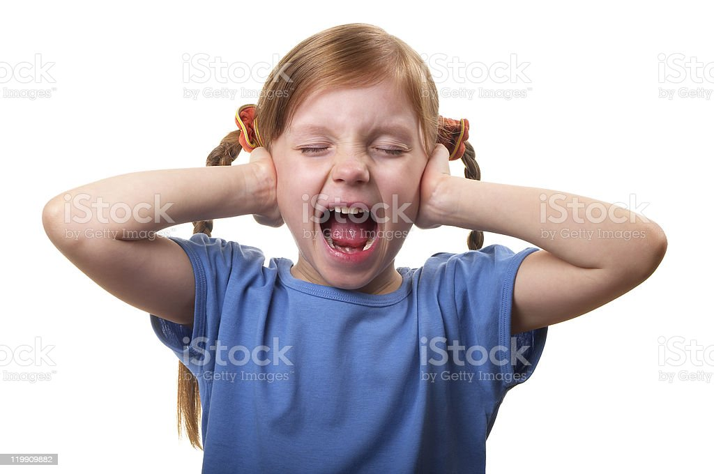 Screaming and ignoring royalty-free stock photo
