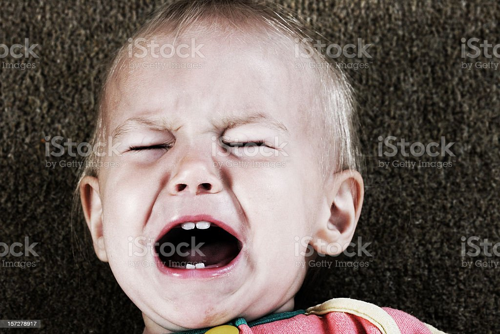 screaming baby stock photo