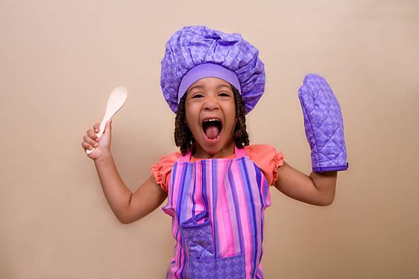 Screaming Chef stock photo