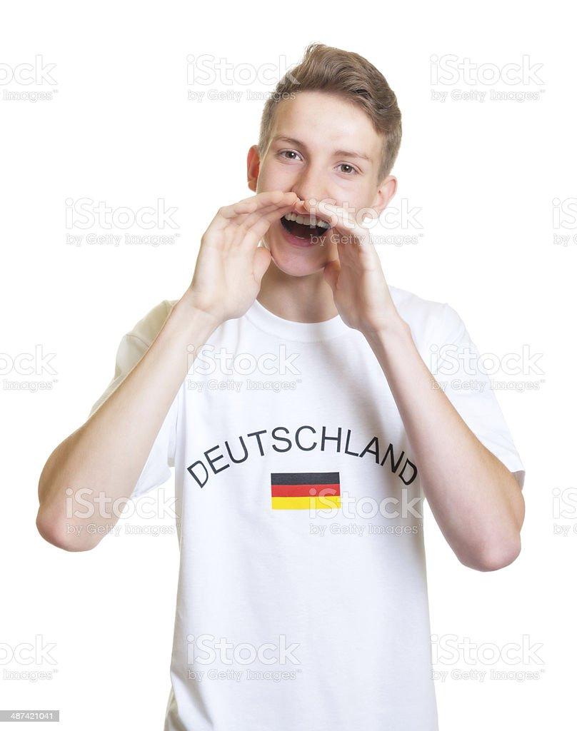 Gritando fãs do Esporte alemão - foto de acervo