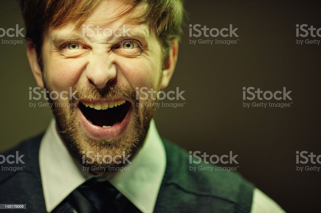 Screaming Guru royalty-free stock photo