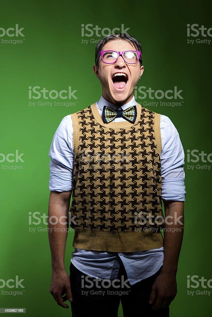 screaming loud stock photo