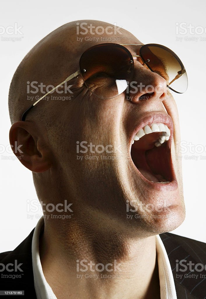Screaming man royalty-free stock photo