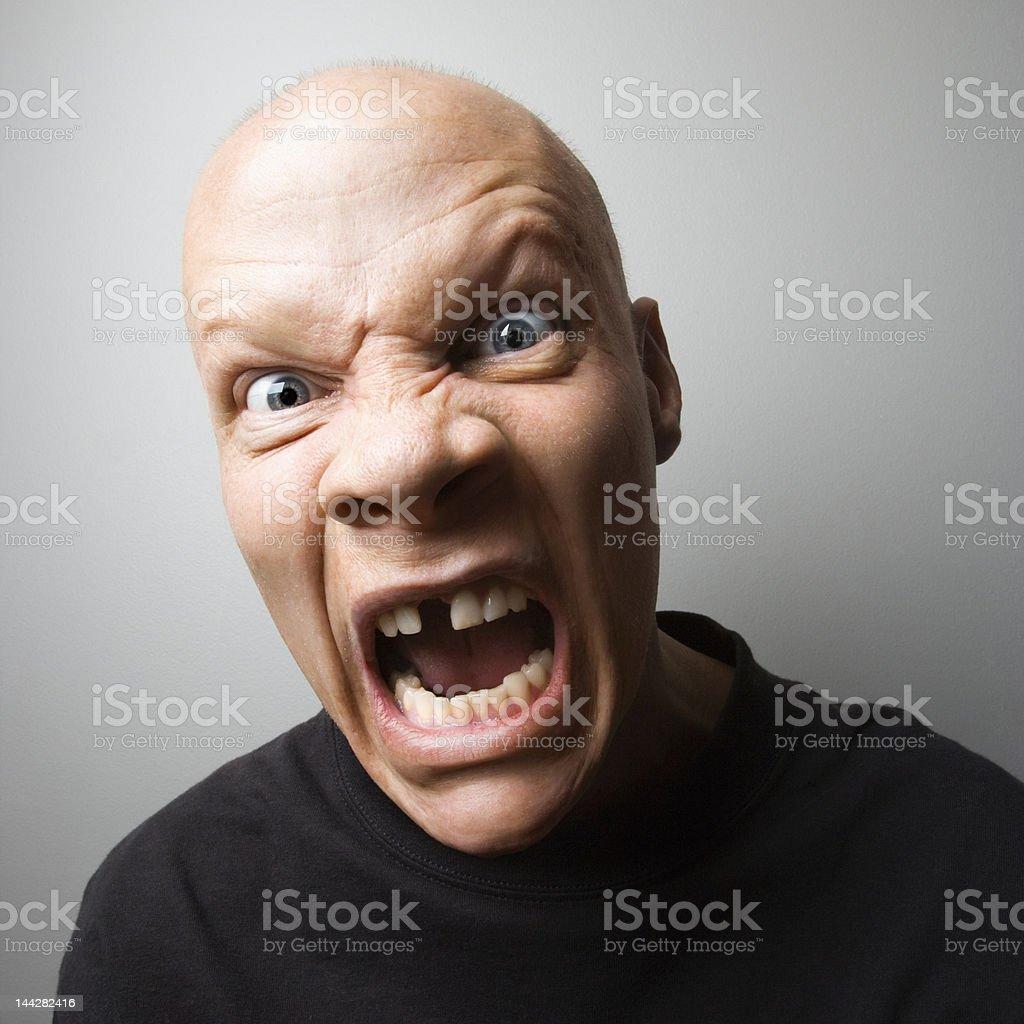 Screaming man. royalty-free stock photo