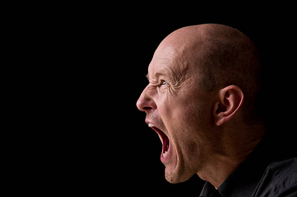 screaming man - gillen stockfoto's en -beelden