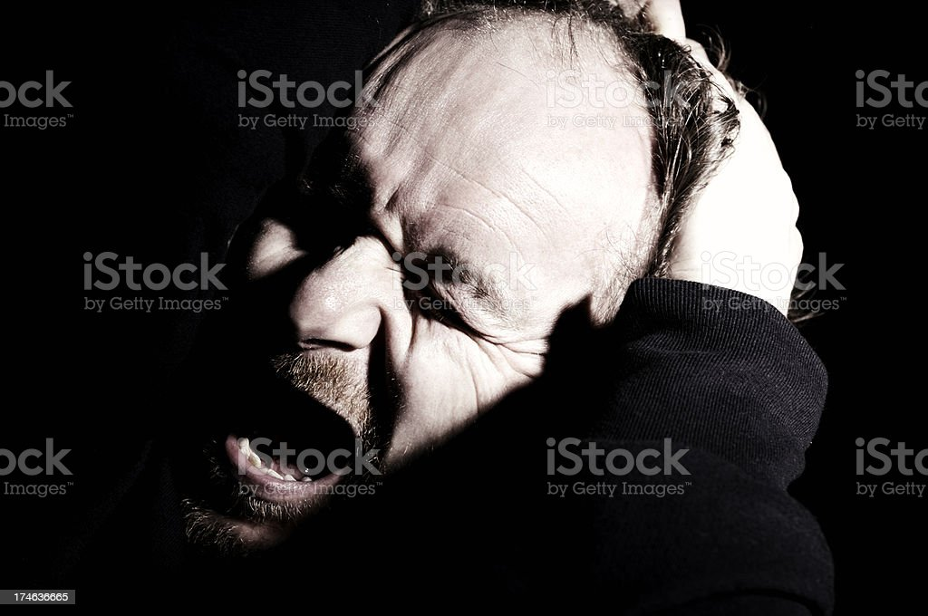 screaming man royalty-free stock photo