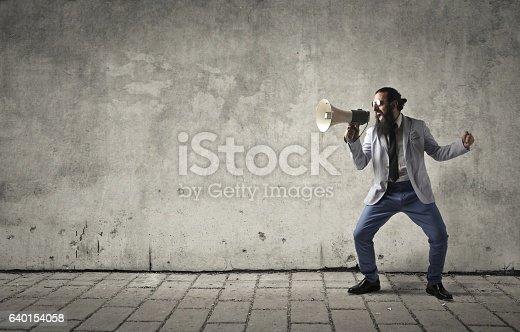 istock Screaming man 640154058