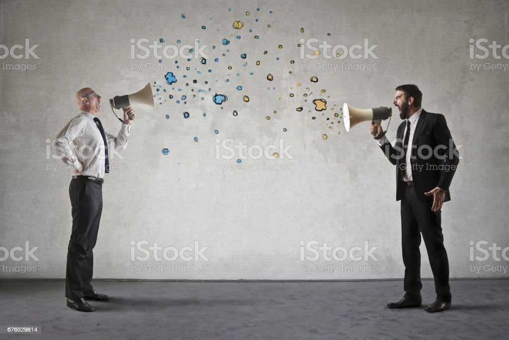 Screaming men stock photo