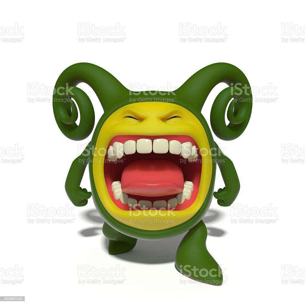 Screaming monster stock photo