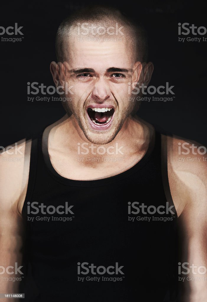 Screaming out of frustration royalty-free stock photo