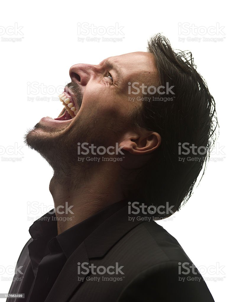 Screaming stock photo