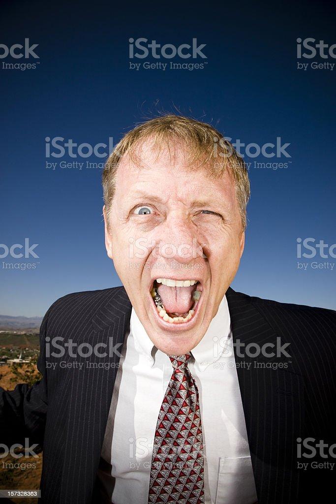 Screaming Senior Businessman royalty-free stock photo