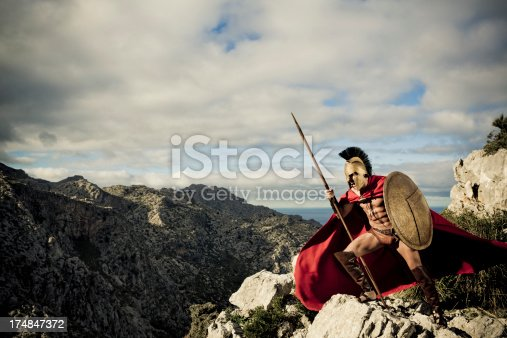 istock screaming spartan warrior 174847372