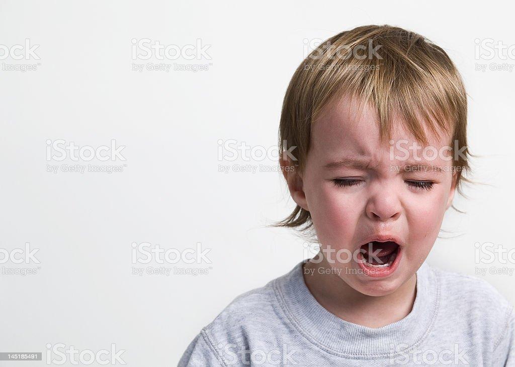 Screaming Toddler royalty-free stock photo