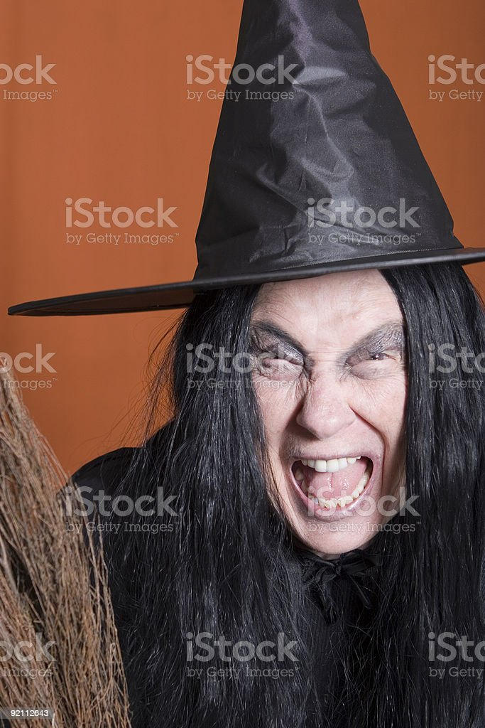 Screaming Witch royalty-free stock photo