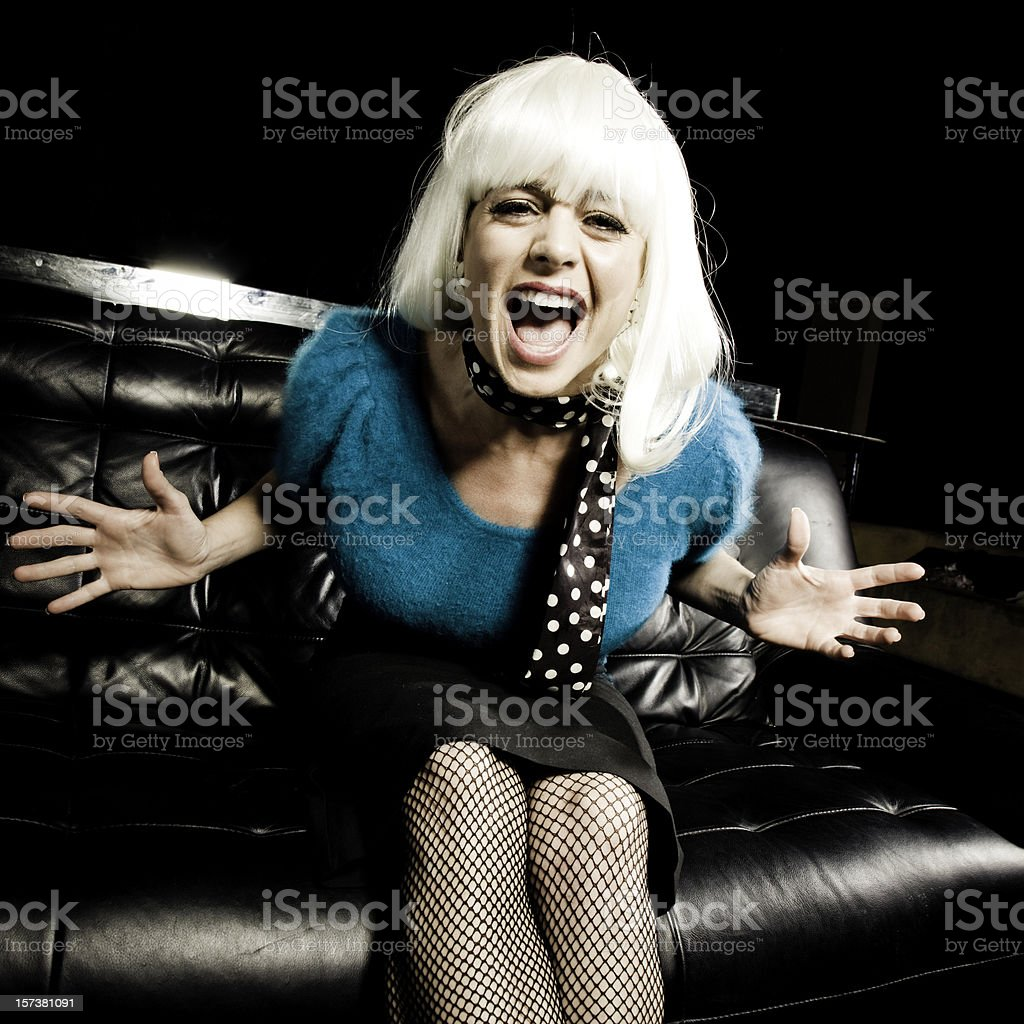 Screaming Woman royalty-free stock photo
