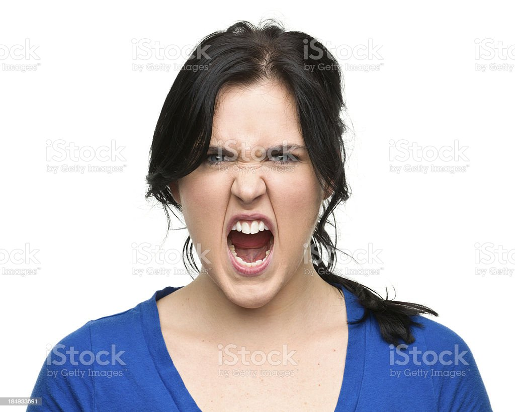 Screaming Young Woman royalty-free stock photo
