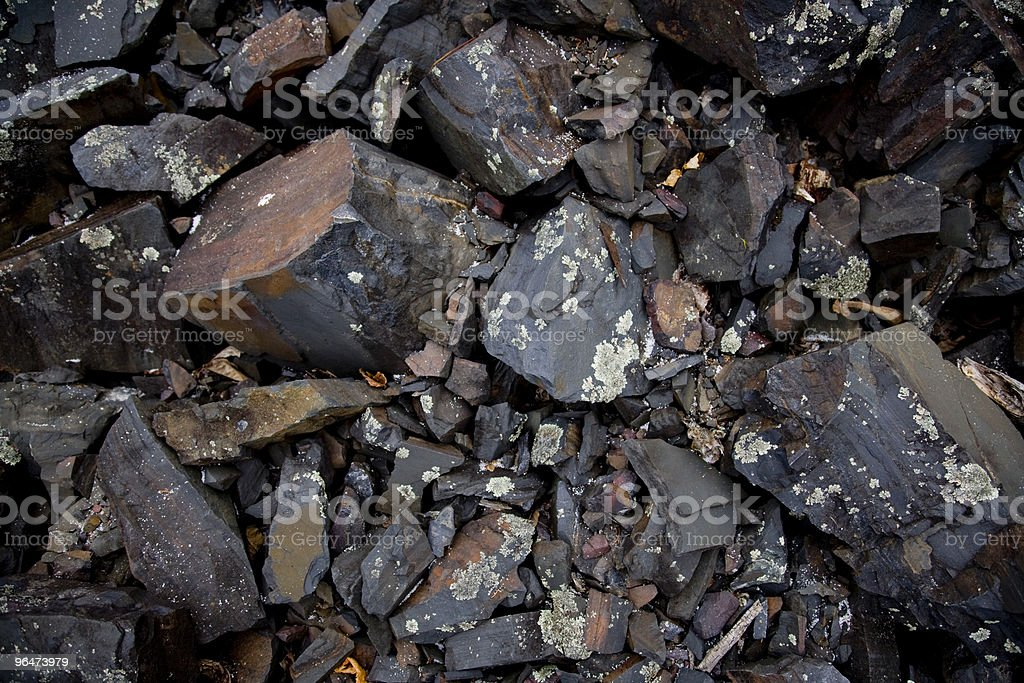 Scree Stones royalty-free stock photo
