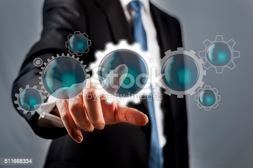 istock Screen concept with Gears 511668334