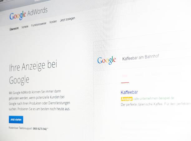 Ekran wyświetla reklamy w Google program – zdjęcie