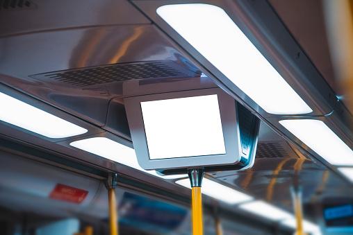 Screen inside train