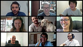 istock Screen of a video conference with nine people. Image for paste to your screen. 1273322990