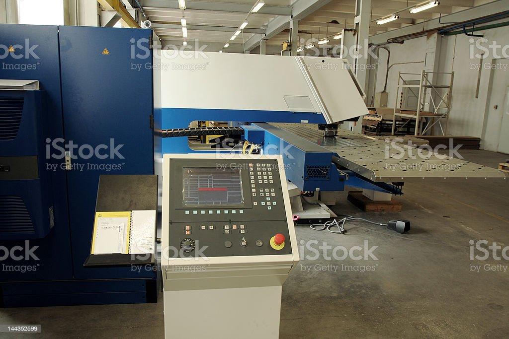 Screen of punching machine stock photo