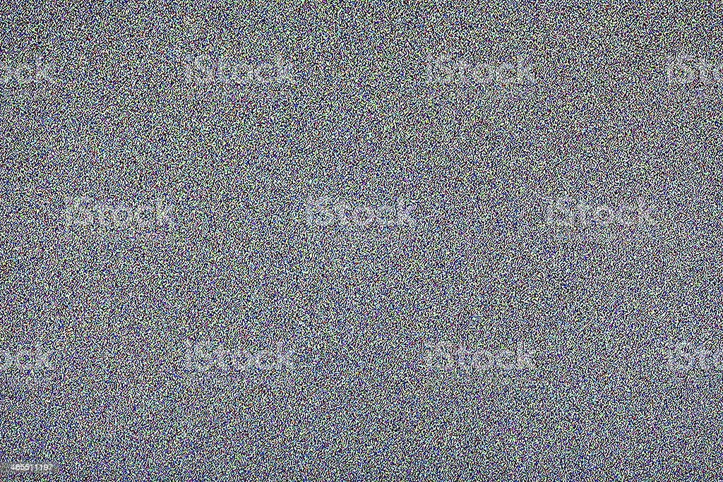 Screen of static from a television stock photo