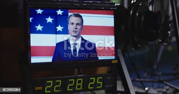 istock Screen on a monitor in a recoding studio 922950064
