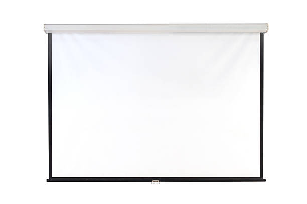 screen projector - projection screen stock photos and pictures