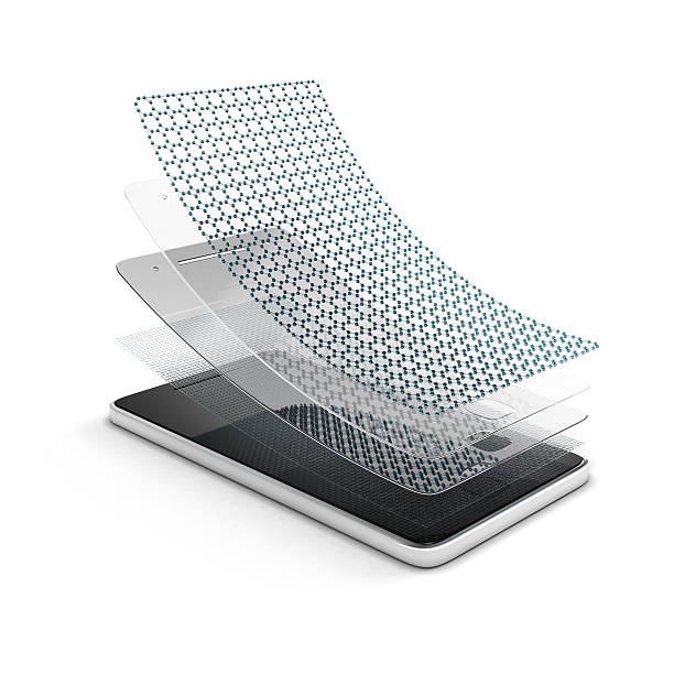 screen protection for smartphone stock photo