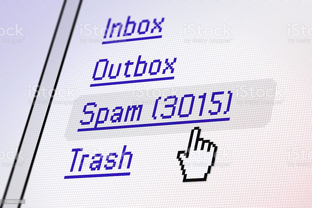 PC Screen - Spam stock photo