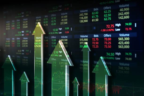 스크린 트레이딩 - 주식 시장 데이터 뉴스 사진 이미지