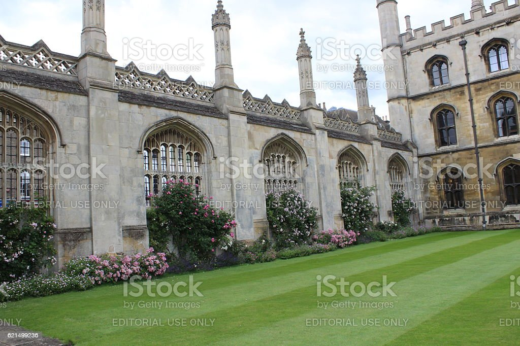 Screen wall of the King's college in the summer foto stock royalty-free