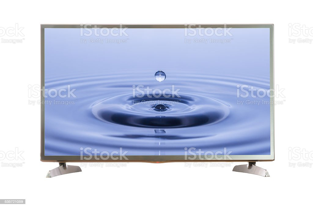 TV screen with clipping path stock photo