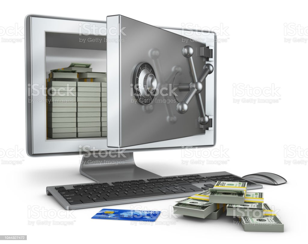 Screen With Open Safe Stock Photo & More Pictures of Bank | iStock