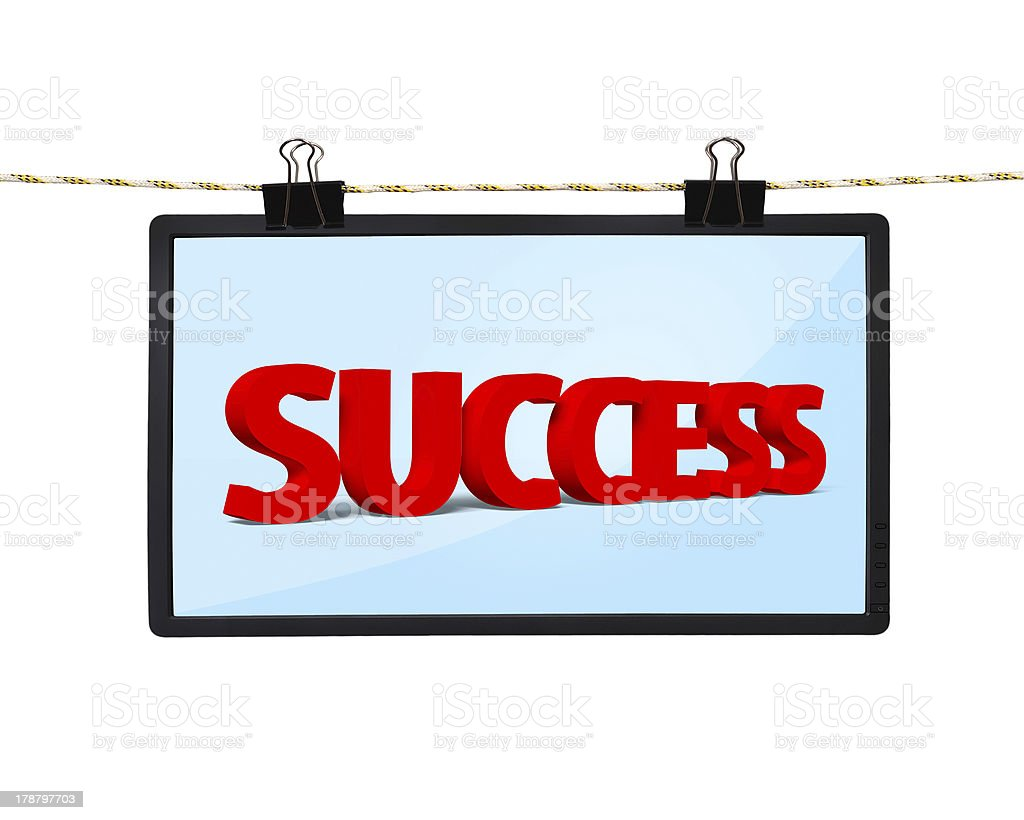 screen with success royalty-free stock photo