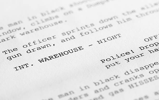 Drehbuch Nahaufnahme 2 (generisch-text geschrieben von Fotograf) – Foto