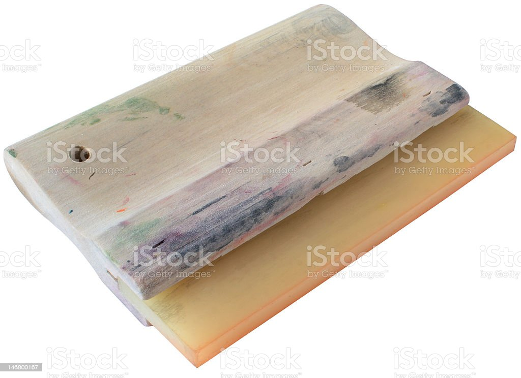 screenprinting squeegee royalty-free stock photo