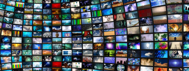 Screens Abstract stock photo