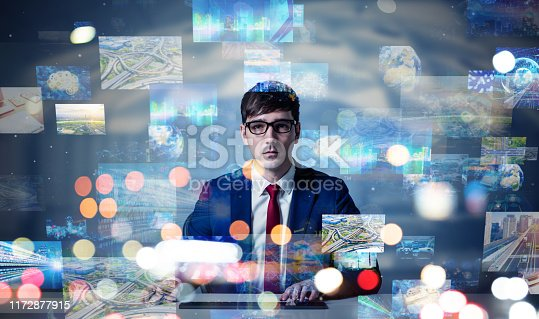 1029147344 istock photo Screens of multimedia concept. Social media. Streaming video. 1172877915