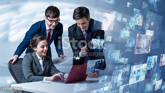 1029147344 istock photo Screens of multimedia concept. Social media. Streaming video. 1172913247