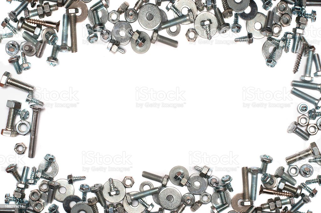 screw and bolts backgraund royalty-free stock photo