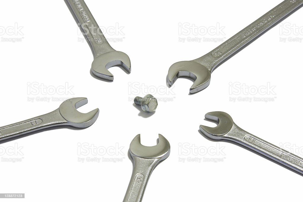 Screw And Wrenches royalty-free stock photo