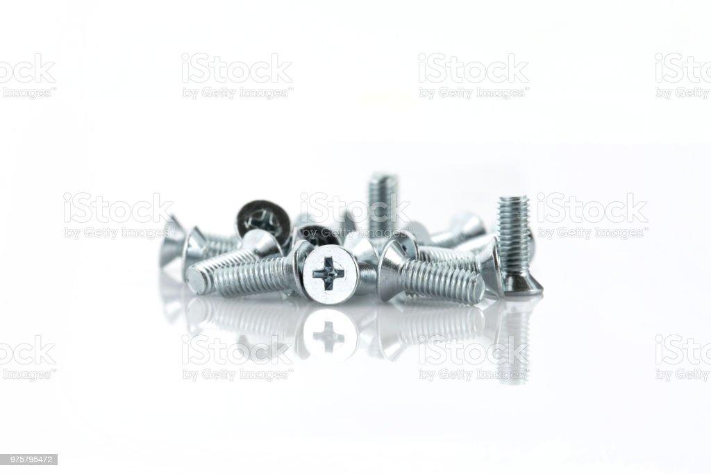 Schrauben, Bolzen - Lizenzfrei Ausrüstung und Geräte Stock-Foto