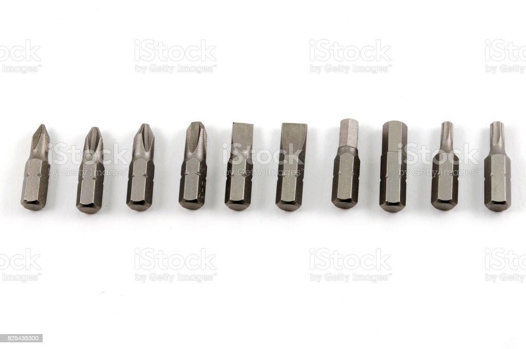 screw heads stock photo