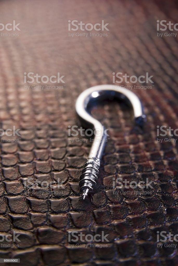 screw hook stock photo